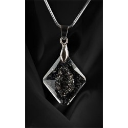 Nyaklánc, Crystals in Crystal, Black Diamond SWAROVSKI® medállal, 26mm, ART CRYSTELLA®